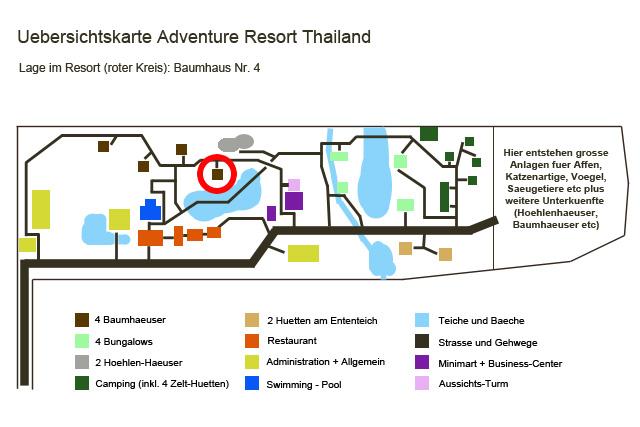 Uebersichtskarte Adventure Resort Baumhaus 4