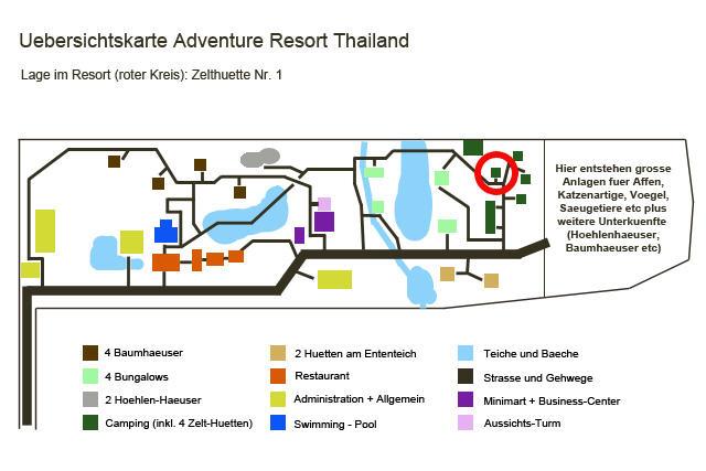 zelthuette1 Lage im Resort